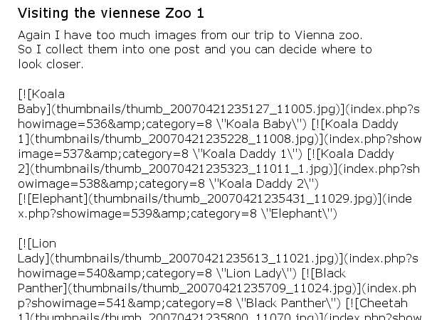 Visiting the viennese Zoo 1